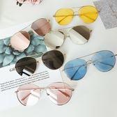 現貨-韓版ulzzang時尚百搭復古海洋片太陽眼鏡 透明水銀反光墨鏡 279