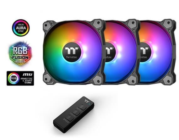 【超人百貨F】曜越 Pure 12 ARGB Sync水冷排風扇主機板連動TT Premium 頂級版 (三顆包)