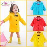 兒童雨衣小學生寶寶幼兒園雨衣小孩蝴蝶結雨衣男童女童雨披「千千女鞋」