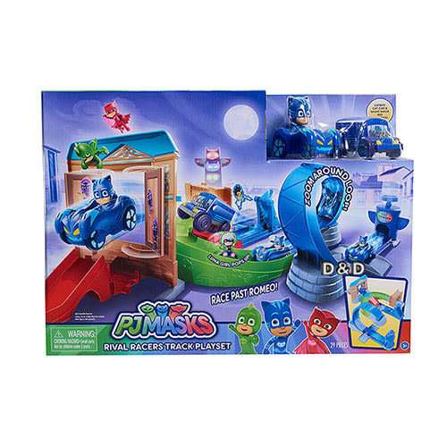 【PJ Masks 睡衣小英雄】軌道發射遊戲組 Turbo Blast Racers╭★ JOYBUS玩具百貨