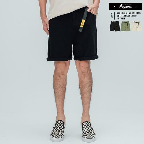 短褲 夏日人氣素面工裝短褲(付皮帶)【C301】短褲 休閒短褲 工作褲 舒適