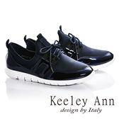 ★2016秋冬★Keeley Ann極簡百搭~異質拼接休閒運動鞋(藍色)