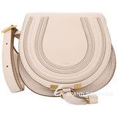 CHLOE Marcie 小款粉米色牛皮斜背包 1640152-19