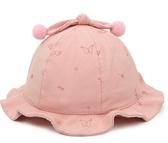 兒童花邊盆帽小孩遮陽帽子男女童漁夫帽帽棉帽