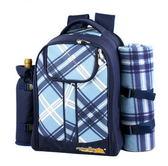 野餐包 含2人餐具組-戶外餐具輕便野炊露營郊遊雙肩後背包68ag2[時尚巴黎]