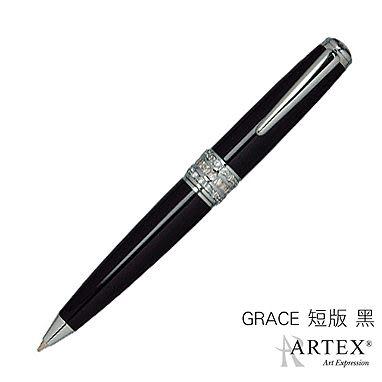 ARTEX GRACE 施華洛世奇方晶水鑽中圈原子筆 (黑短版)