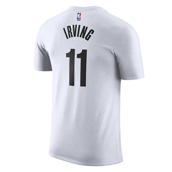 Nike NBA BED-STUY KYRIE IRVING 男裝 短袖 布魯克林籃網 白【運動世界】BV8746-100