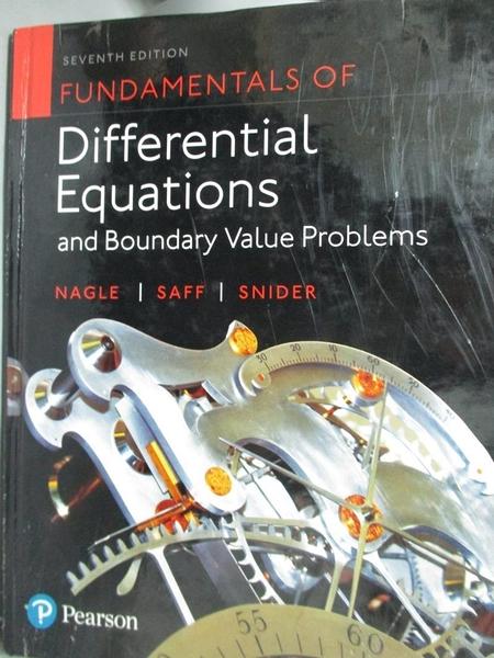 【書寶二手書T3/大學理工醫_XAE】Fundamentals of Differential Equations an