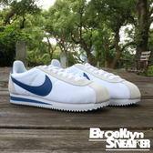 Nike Classic Cortez Nylon 白藍 灰 尼龍 麂皮 阿甘 男女 (布魯克林) 2018/6月 807472-102