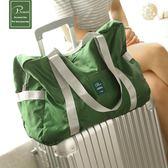 折疊旅行包女手提包正韓輕便大容量短途旅游包登機包旅行袋行李包~紅人衣櫥~