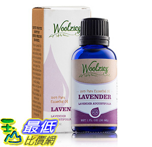 [106美國直購] Woolzies Best quality, great value 100% Pure Lavender Essential Oil, therapeutic grade, aromatherapy oils