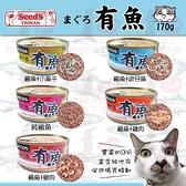 PRO毛孩王【單罐】SEEDS 惜時 有魚 大貓罐170g