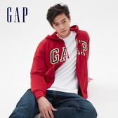 Gap男裝棉質毛圈布內裡連帽衫567863-紅色