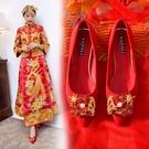 婚鞋平底 紅色中式婚鞋 秀禾鞋 新娘鞋 3cm孕婦平跟單鞋