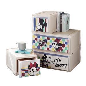 HOLA 迪士尼系列 單層堆疊抽屜櫃 寬55cm 米奇 MICKEY Disney