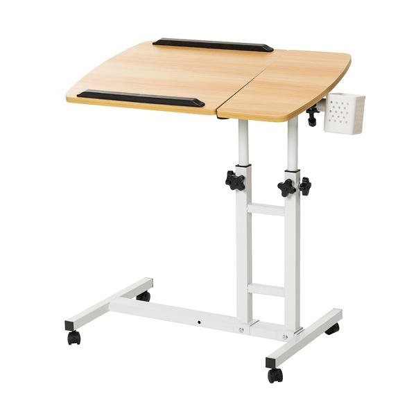 威瑪索 電腦桌 360度升降工作桌 淺木紋 懶人桌 電腦桌 NB桌 邊桌
