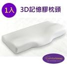《Comfortsleep》3D親水性記憶膠棉人體工學枕頭1入, 送枕頭保潔墊