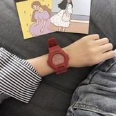 ins超火的手錶女學生韓版簡約潮流ulzzang李現韓商言同款電子手錶 衣櫥秘密