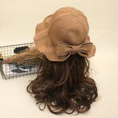 秋冬時尚漁夫帽盆帽女夏季韓國百搭薄款針織帽子小清新遮陽太陽帽 9號潮人館