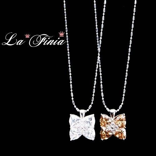 【La Finia】Good luck-幸運草水晶項鍊(二色可選擇)