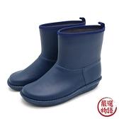 【日本製】日本製 短版 雨靴 海軍藍色 S SD-678 -