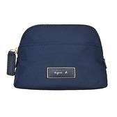【南紡購物中心】agnes b. 金屬邊框方牌化妝包-小/深藍