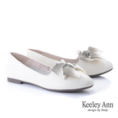 ★2019秋冬★Keeley Ann我的日常生活 漸層緞帶平底娃娃鞋(白色) -Ann系列