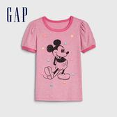 Gap女童棉質舒適圓領短袖T恤540440-混色粉