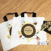 購物袋 加厚服裝店裝衣服袋子童裝店膠袋塑料女裝手提袋購物禮品包裝定製