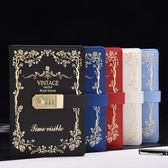 復古密碼本創意學生日記本帶鎖筆記本日韓國加厚手賬本筆記本文具   初見居家