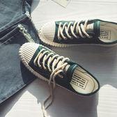 帆布鞋春季男士小白鞋港風帆布鞋學生韓版潮流休閒鞋子男板鞋 【四月特賣】