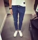 韓國 原色 復古牛仔褲