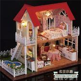 DIY小屋公主小屋手工制作拼裝房子模型大別墅女生公主房生日禮物 蘿莉小腳丫