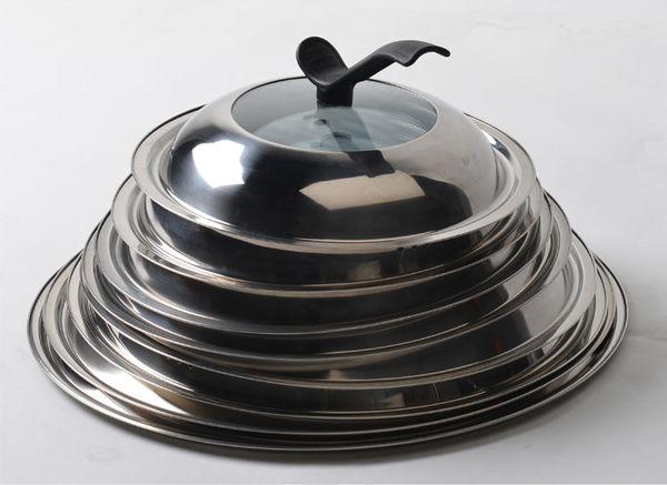鍋蓋不銹鋼可視鋼化玻璃蓋炒鍋i湯鍋蒸鍋通用大鍋蓋28/30/32/34cm『全館好康1元88折』