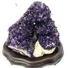 『晶鑽水晶』烏拉圭紫水晶山**優質紫度~超亮**提升智慧財運 2.4公斤*台製底座