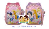 正版Disney 迪士尼公主系列 小學生書包 健康護脊後背包桃紅色款/單售