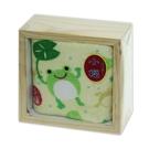 木盒裝小毛巾-青蛙