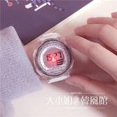 手表女中學生韓版簡約休閑大氣電子表數字式運動-大小姐韓風館