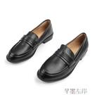 牛津鞋英倫學院風舒適低跟柔軟中口樂福鞋休閒牛津鞋圓頭單鞋粗跟女鞋子特賣