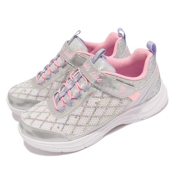 Skechers 燈鞋 S Lights Glimmer Kicks Sophisticated Shine 4-7歲 幼稚園 中童 銀 粉 運動鞋【ACS】 20336-LSLPK