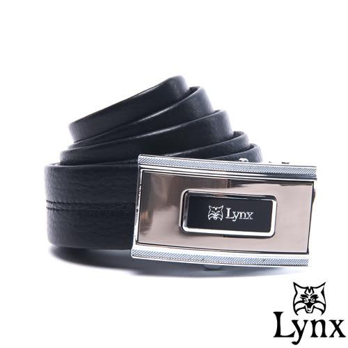 Lynx - 山貓城市系列雅藝款自動扣真皮皮帶
