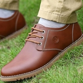 休閒鞋 真皮皮鞋 男鞋 大碼休閒男鞋子【五巷六號】x27