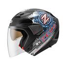 【東門城】ZEUS ZS611E TT13(黑) 半罩式安全帽 雙鏡片