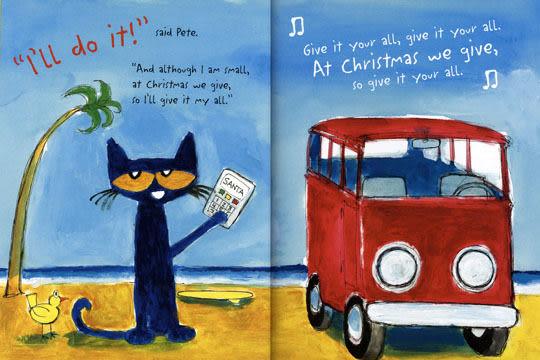 【麥克書店】PETE THE CAT: SAVES CHRISTMAS /精裝繪本《聖誕節》※說故事老師推薦好書※