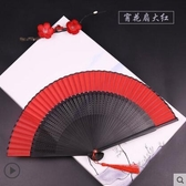 大紅色女式手繪扇子折扇中國風古風