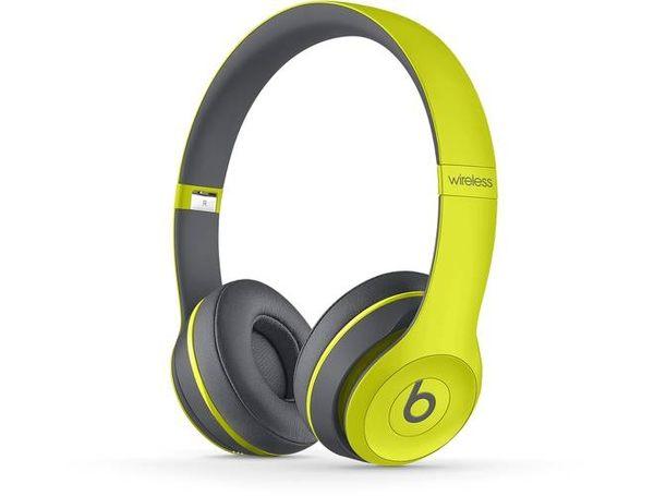 【台中平價鋪】潮牌首選 Beats Solo 2 Wireless Active  藍芽耳機-黃灰色 時尚潮流感 先創公司貨