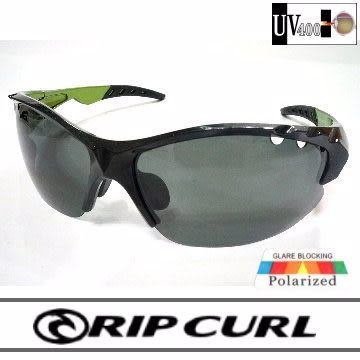 [Rip Curl] UF9425/全面最低價!!!抗藍光抗UV保麗萊運動偏光鏡/黑綠/騎車.戶外族專用