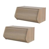 (組)日本IRIS木質可掀門堆疊櫃W60H30-淺木色(二入)