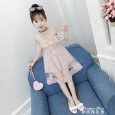 女童洋裝夏裝新款韓版時尚小女孩夏季洋氣兒童雪紡公主裙子  麥琪精品屋