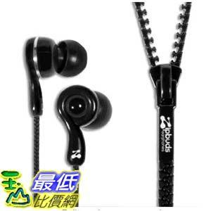 [103 美國直購] Zipbuds 拉鍊專利耳機 ZBJ2BK JUICED 2.0 Zipper Earbuds, Black$1312